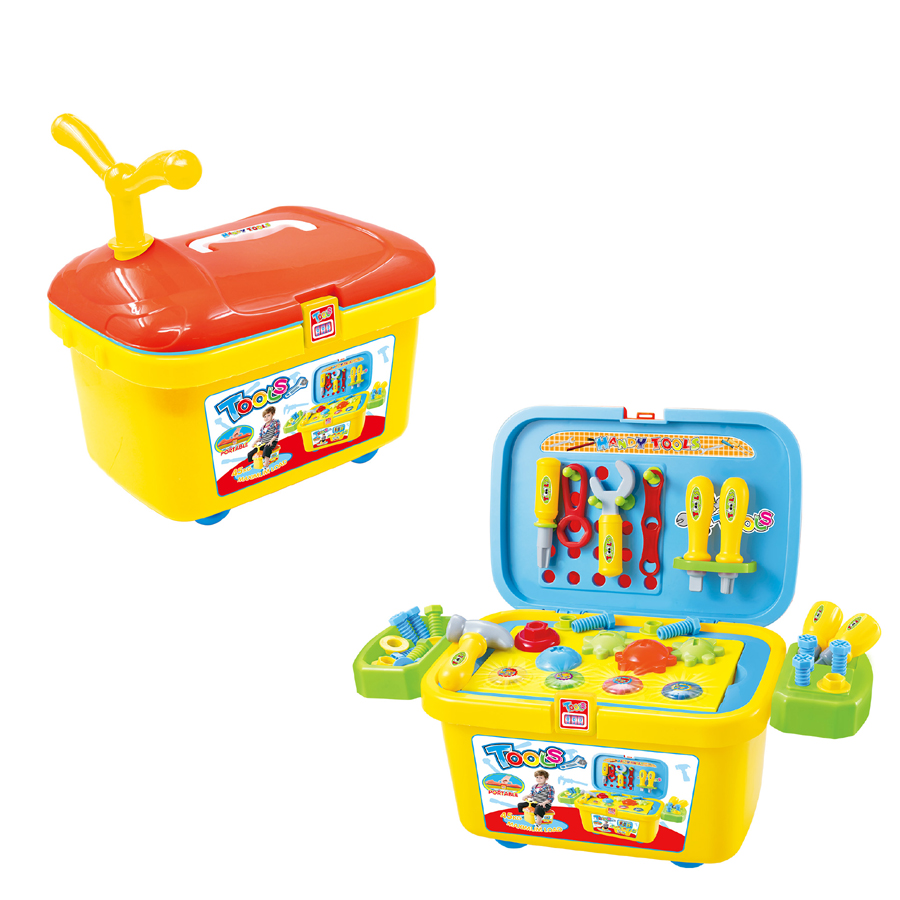 Plastic simulation construction toy tool play  set toy for boy