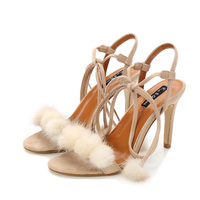 Myfur Wholesale Handmade Real Mink Fur Pom Pom Colorful PomPom Shoe Clips