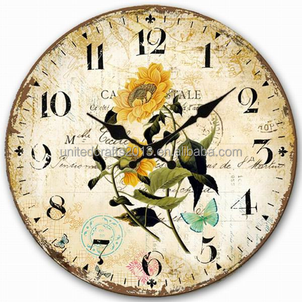 funny design cheap MDF wall clock children for bedroom