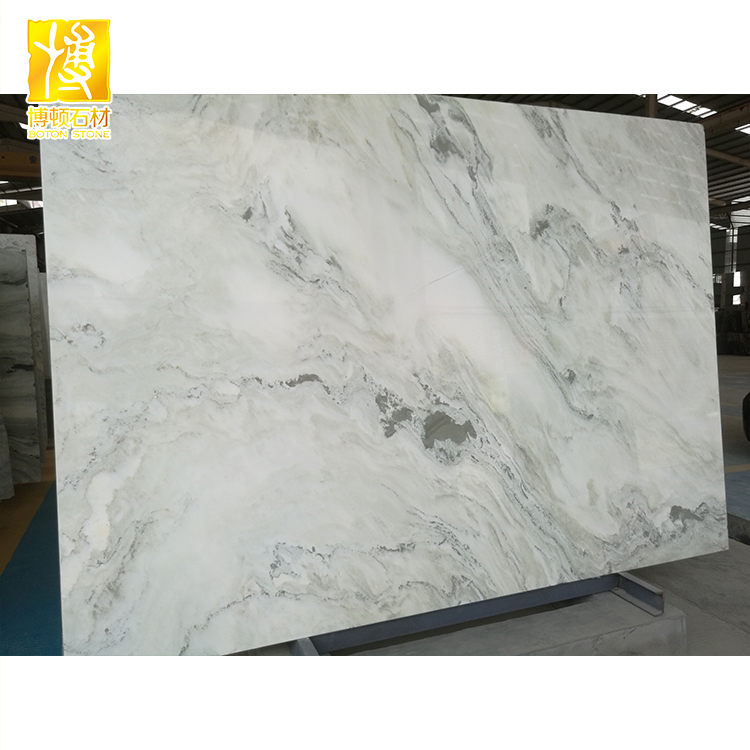 Polished Natural Stone Furniture Guangxi White Marble Round Table Top