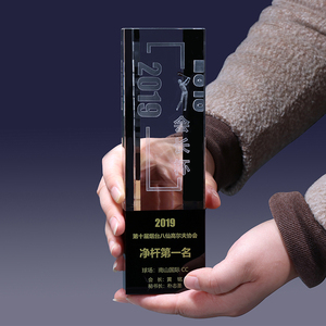High quality six sides custom crystal award trophy
