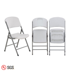 Wholesale Outdoor / Garden / Picnic White Portable Plastic Folding Chairs For Events Parties