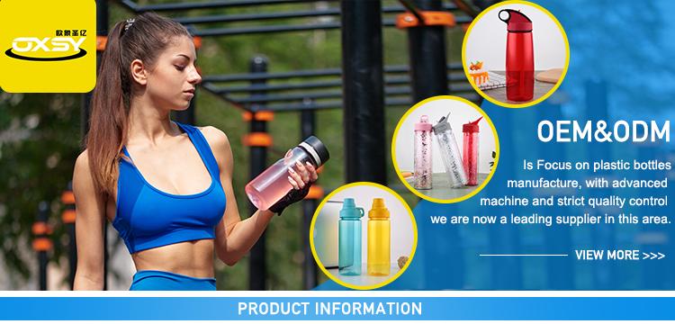 निर्माता आपूर्ति फैशनेबल खाली 650 ml फल तर करने वाला पानी की बोतल खुशी प्रकार के बरतन बोतल