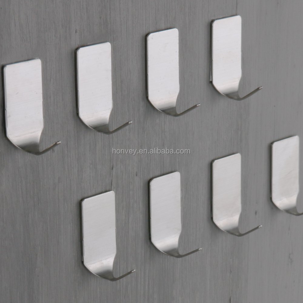 Hot Sell 8pcs 304 Stainless Steel Self-adhesive Home Kitchen Wall Door Holder Hook Hanger Hanging Coat Hooks