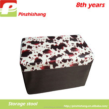 Polyester square storage folding stool