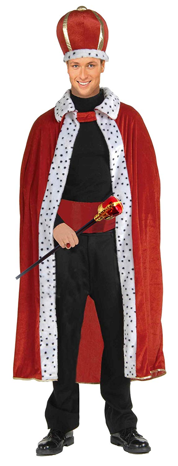 Regal King Robe, Crown and Royal Scepter Costume and Accessories Set by Express Novelties Online