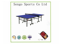 Double Fish 15mm Folded Legs Indoor Table Tennis Table With 50mm Wheels