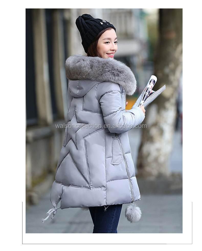 2017 Winter Women Jacket Long Down Jacket Padded Coat Ladies Slim Hooded Parka women winter coats
