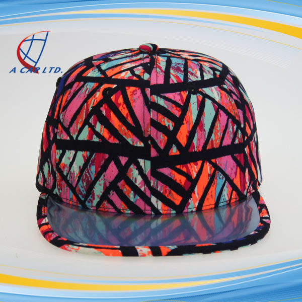 Wholesale Custom Logo Summer Printed Floral Cap Snapback Hat
