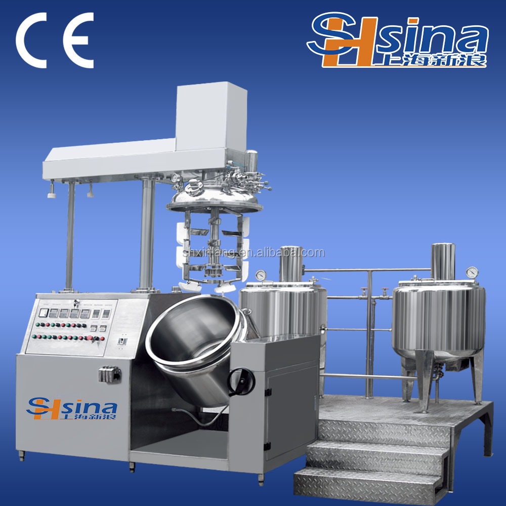 Electric heating three layer stainless steel cosmetic manufacturing equipment