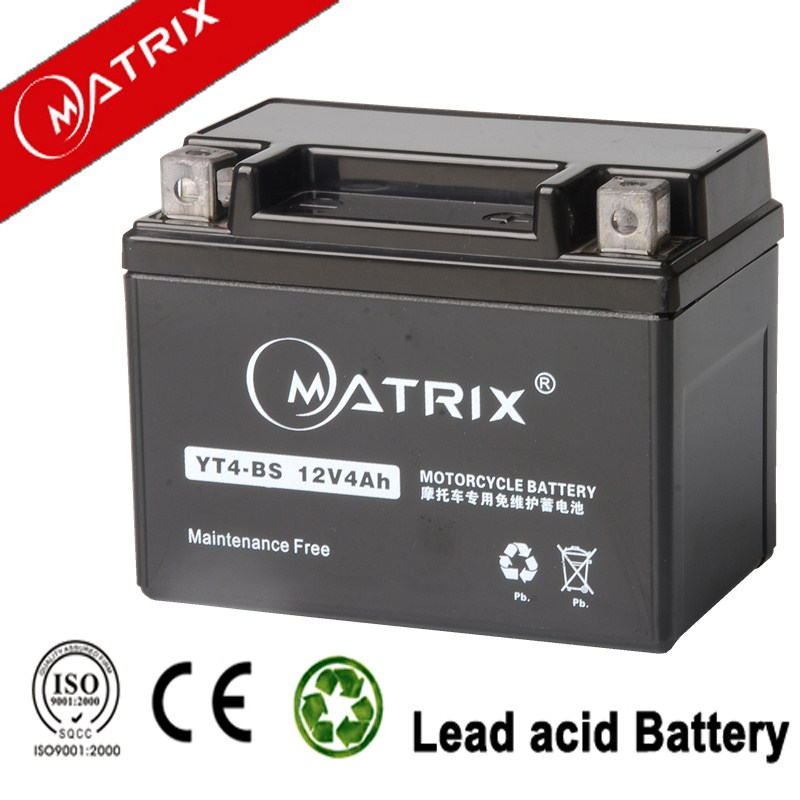 lead acid ytx4-BS maintenance free motorcycle battery
