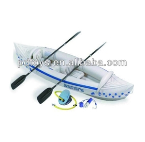 New design White fishing inflatable plastic canoe