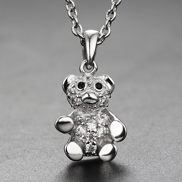 Fancy 925 sterling silver jewelry designs bear pendant for kid