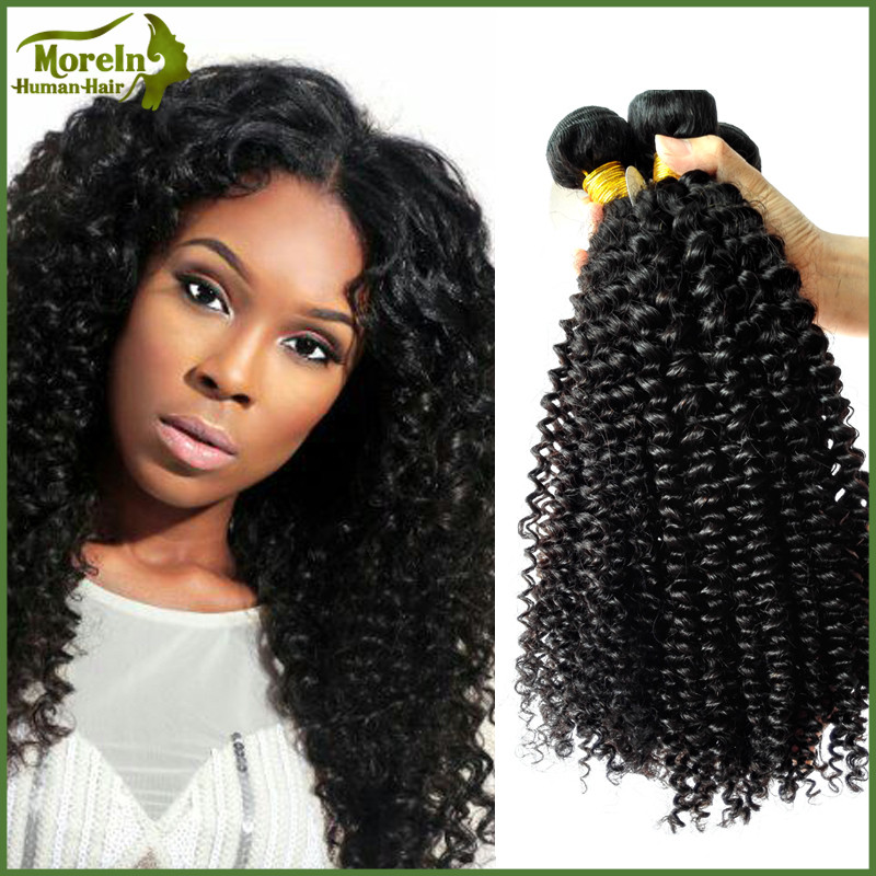 Brazilian human hair new products kinky curly hair wefts