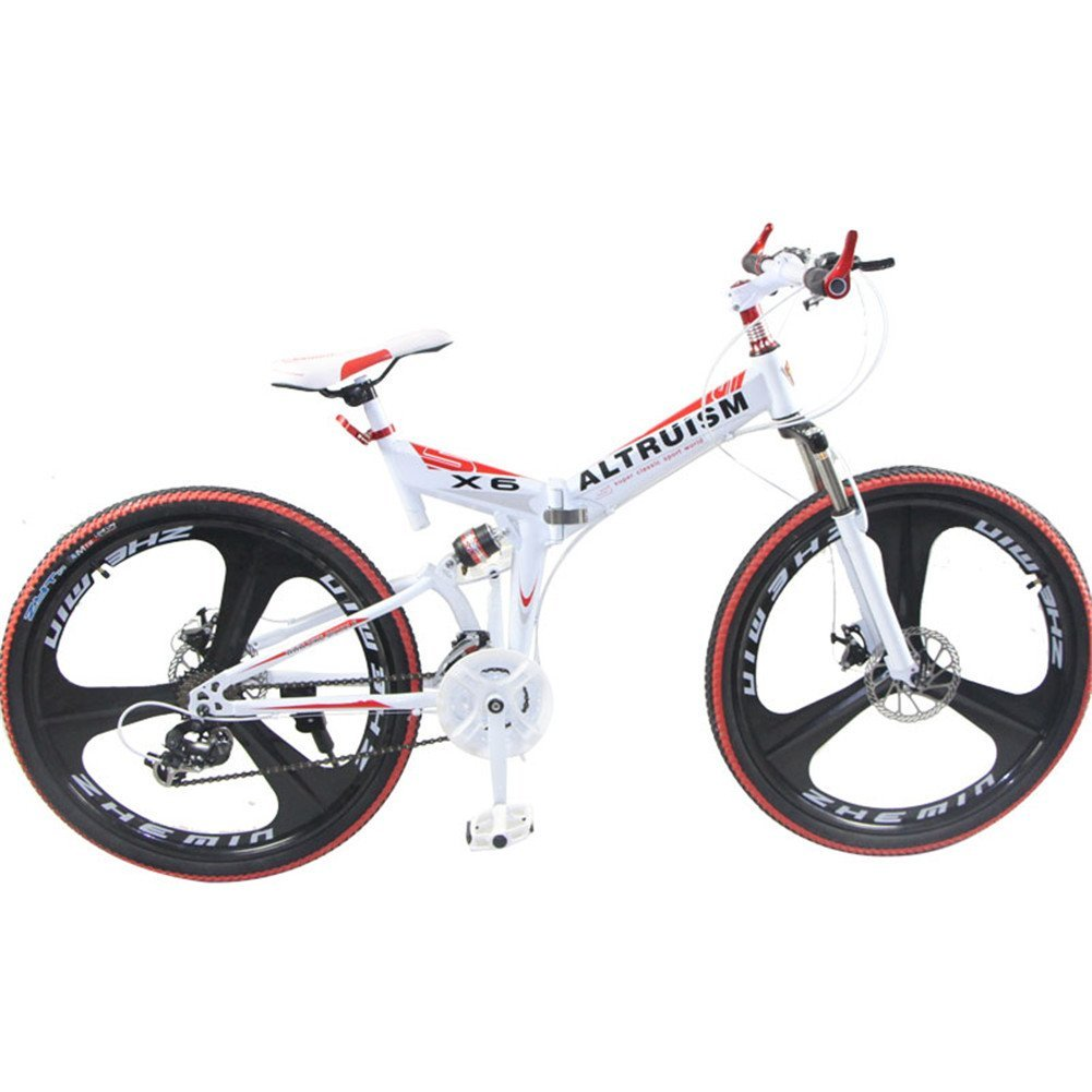 Altruism X6 26 Inch Aluminium Folding Bike Frame Mountain Bicycle 21/24 Speed Disc Brakes Tall Man Mtb Bike 2 Color Choose Ce Rohs