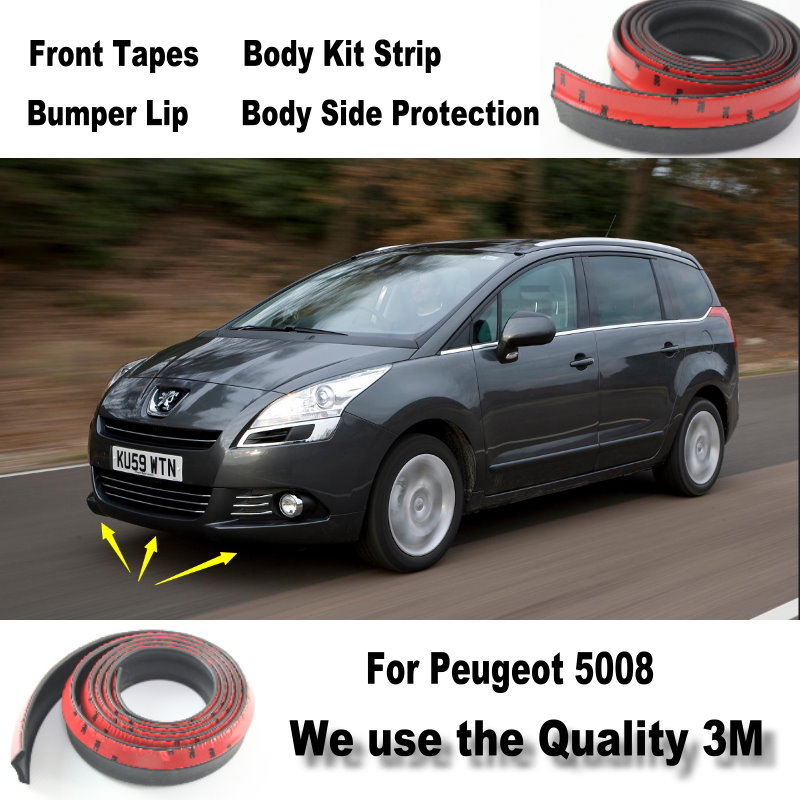 car bumper lips for peugeot 5008 front spoiler deflector body kit strip skirt anti. Black Bedroom Furniture Sets. Home Design Ideas
