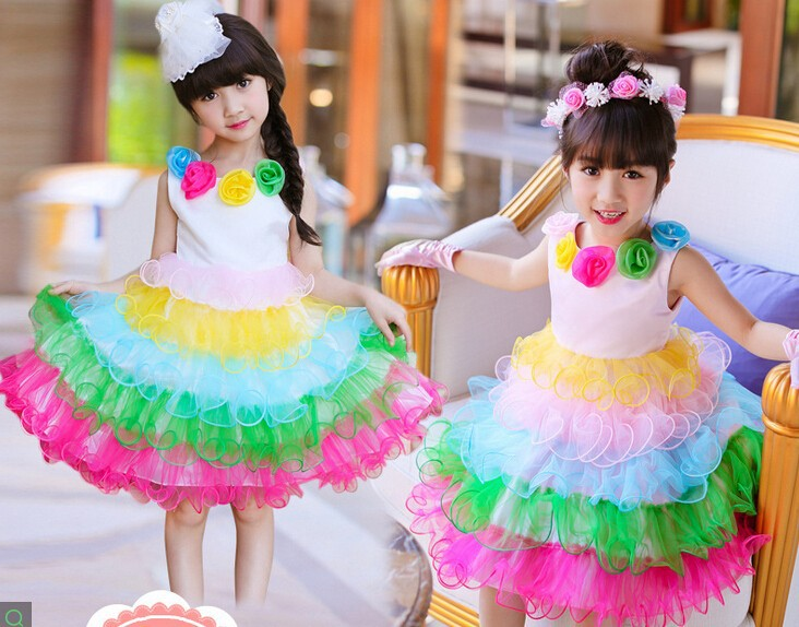 C86268a Factory Wholesale Little Girl Party Dress Kids Girl ...