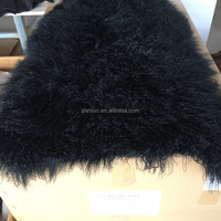 Real Mongolian Tibet Lamb Fur Dyed Color Rug Plate Throw New Genuine Wool