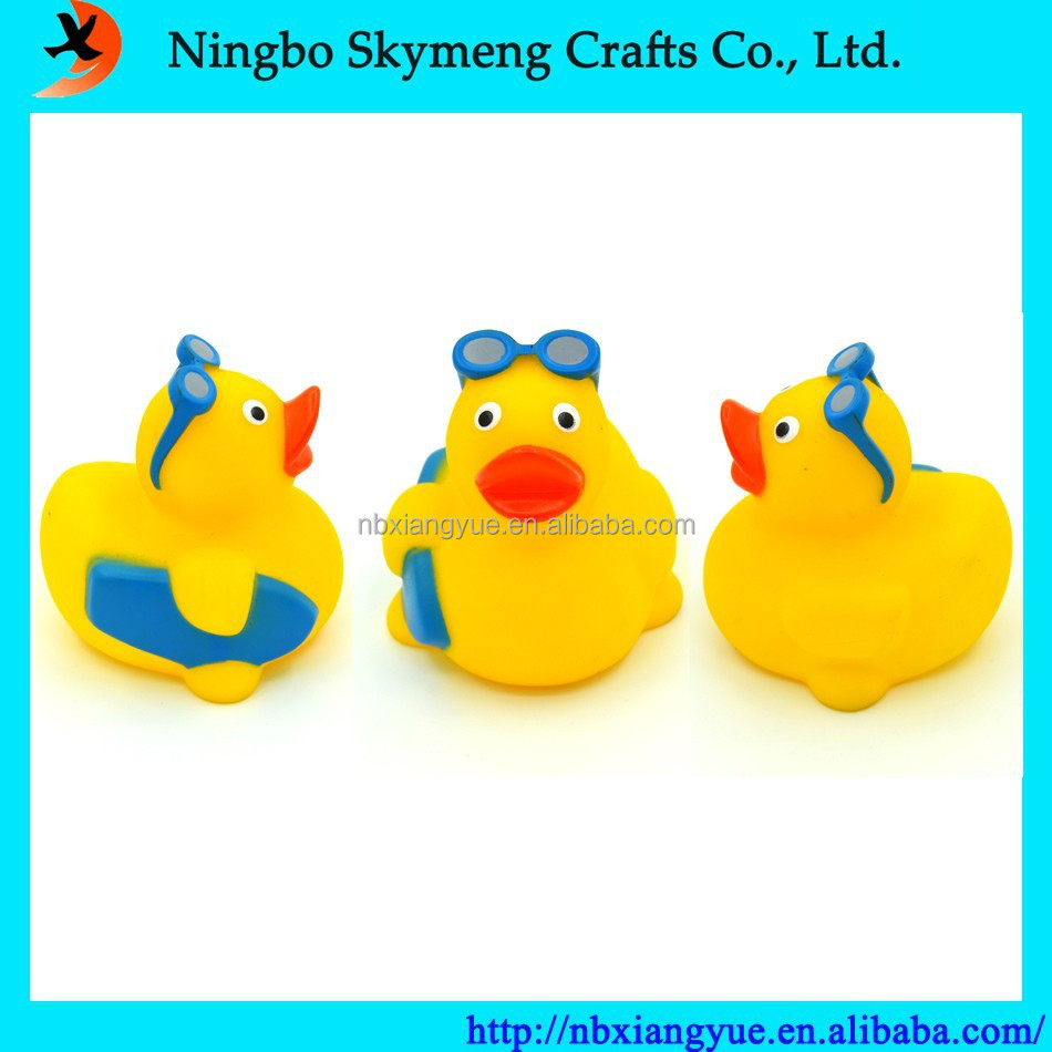 Unique bath toy yellow rubber bath duck vinyl toys PVC toy