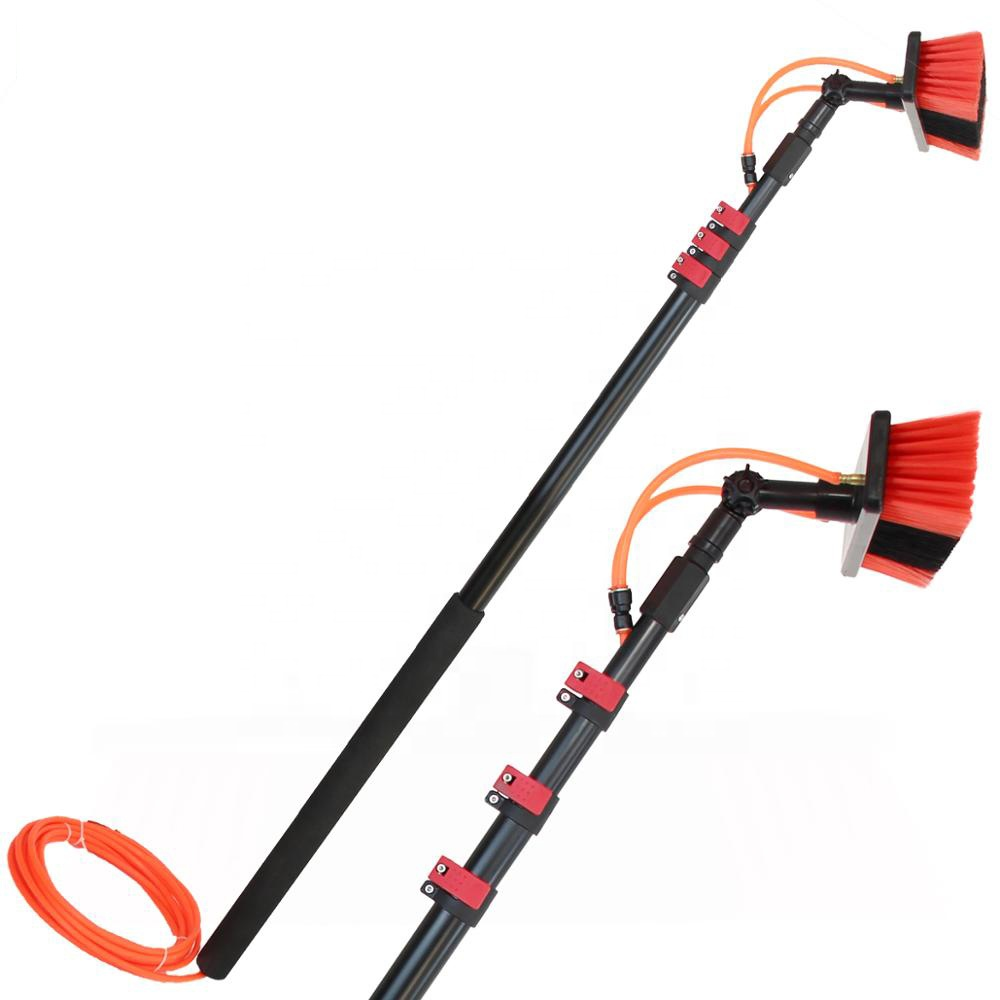 Extentool Aluminum Telescopic water fed Pole for Solar Panels cleaning <strong>Brush</strong>