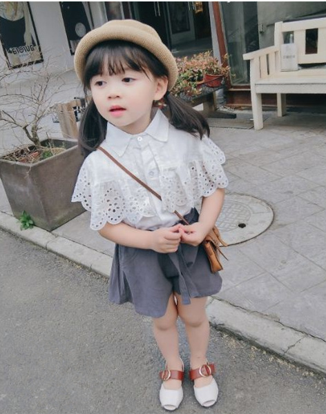 New Styles Kids Clothes Set 2019 Summer New Mesh Butterfly T-Shirt +Shorts Fashion Suit Children Clothing фото