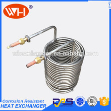 immersion coil heat exchanger, titanium tubes for heat exchanger, spiral tube heat exchanger coil