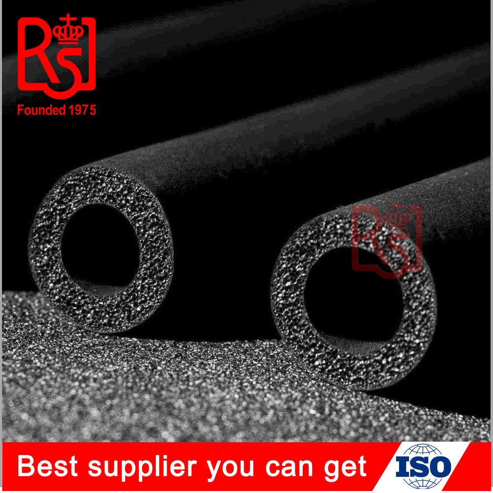 Factory Insulation thermal heat material NBR rubber foam pipe tube for air conditioning