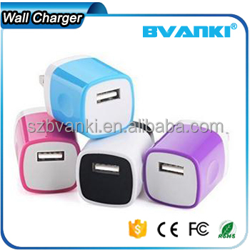 2016 Hot sale Cheap 5V1A OEM wireless charger mini universal wall usb charger travel charger from china supplier
