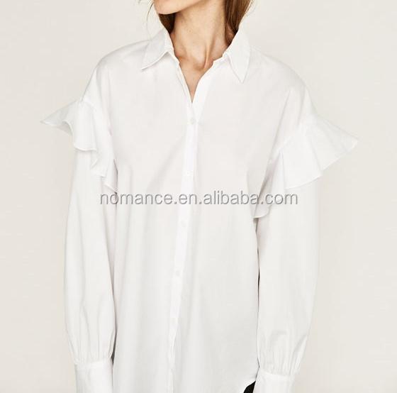 f425d0779c1 Summer Ladies White Dress Design Long Sleeve Office Women Blouses ...