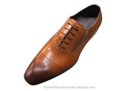 Hottest wholesale online retail men formal dress shoes genuine leather new style italian man cowhide brown shoes