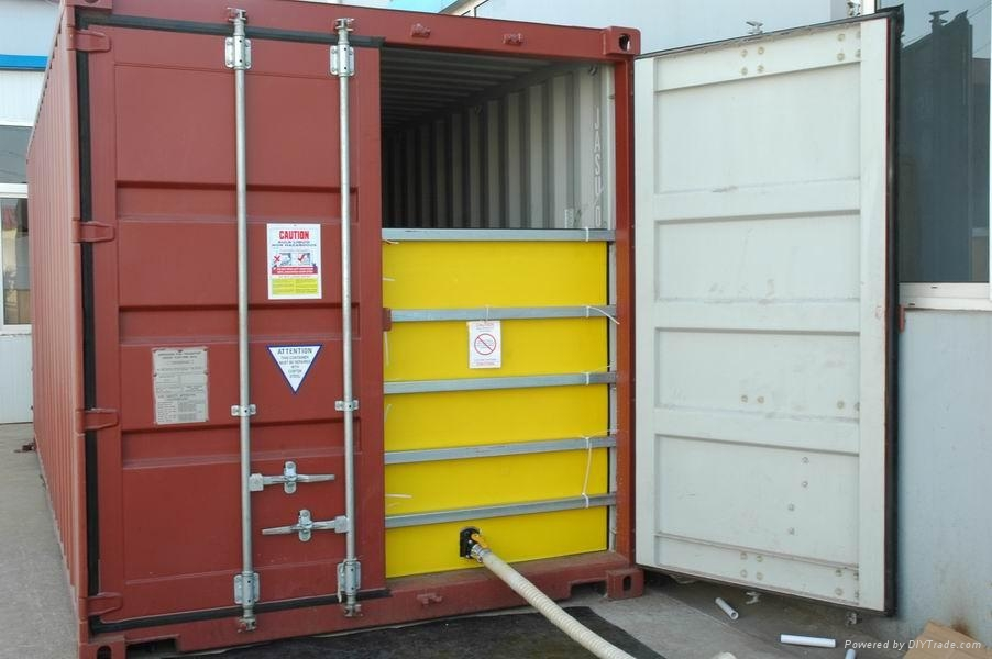 Usa e getta flexitank per bulk oli trasformatore di trasporto in 20ft container