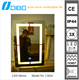 Unframed Energy Saving LED mirror for Hotel and Bar
