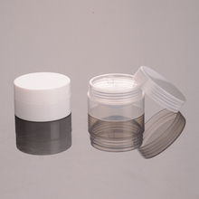 10g Plastic PP White and Clear Concave Jar for Cosmetic Plastic Jar Mini Sample Jar Container