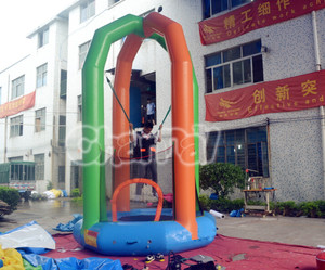 Challenging Inflatable Soft Bungee Jumping Bouncer for Adult and Kids