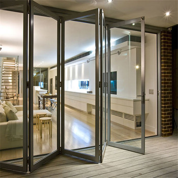 Best Quality Price Indoor Folding Doors Double Tempered Gl Bi Fold