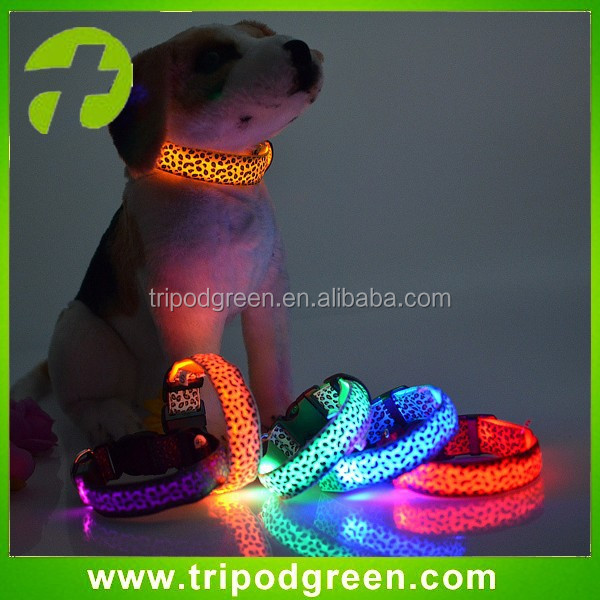 Night flashing light safety led dog collar