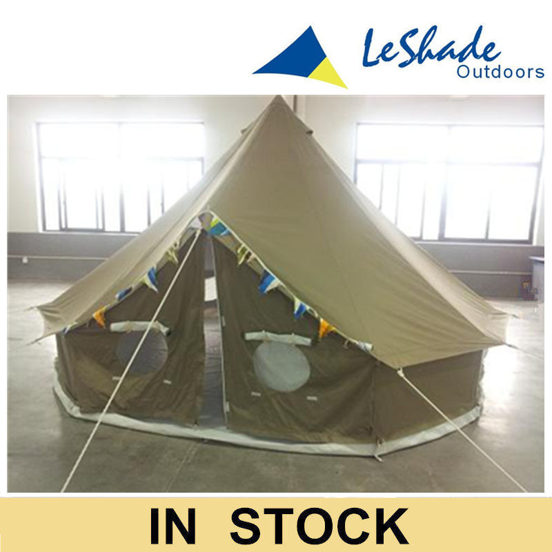 5m cotton canvas 360gsm fire proof bell tents