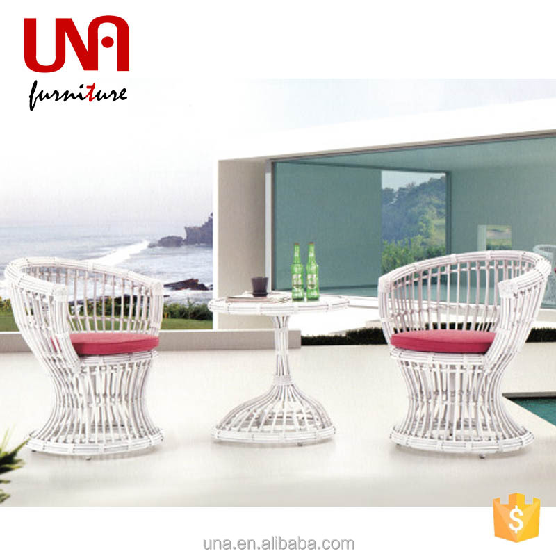 Rattan mamasan chair white outdoor furniture cheap 2 seater arm coffee leisure table chairs