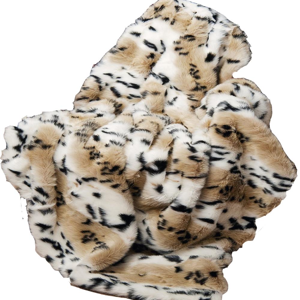 Mode lynx foam luxus leopard kunstpelz decke