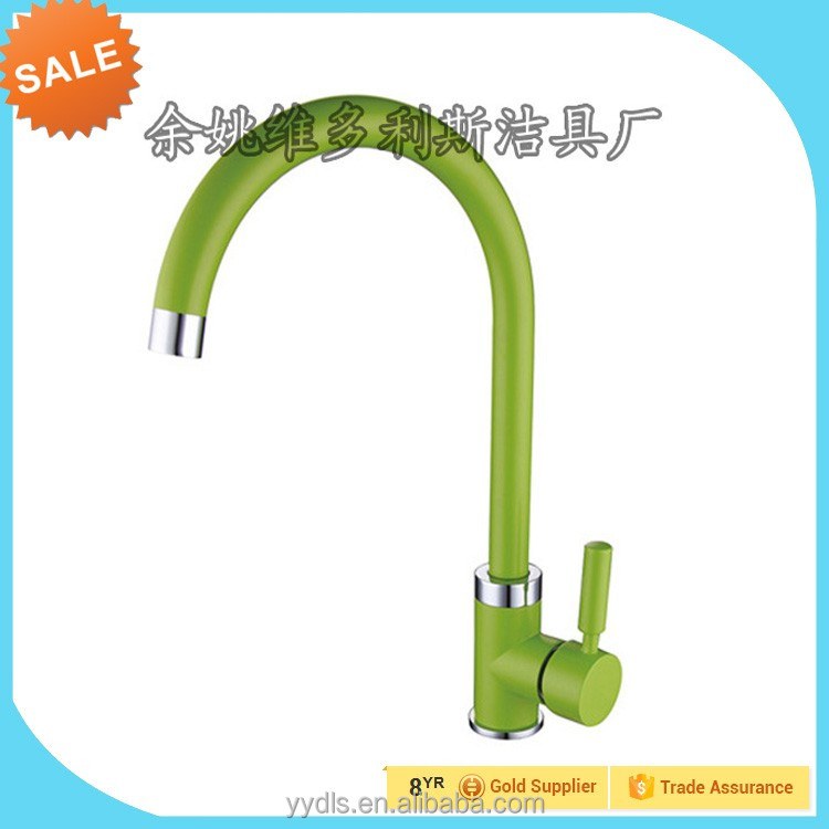 kitchen sink faucet with flexible gooseneck hose silcone outer tube multi color