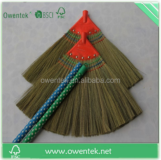 Hot selling barba broom with grass,india grass broom china factory