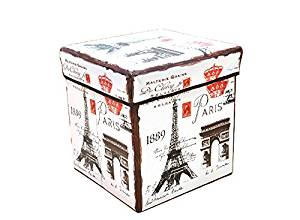 Sensational Buy Multifunctional Paris Patterns Folding Lidded Storage Bralicious Painted Fabric Chair Ideas Braliciousco