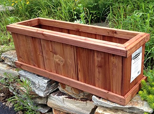 "Planter Box Set of 2 Pennington Solid Wood Cedar Outdoor Heartwood - 28"" L x 8.75"" W x 9.75"" Tall"