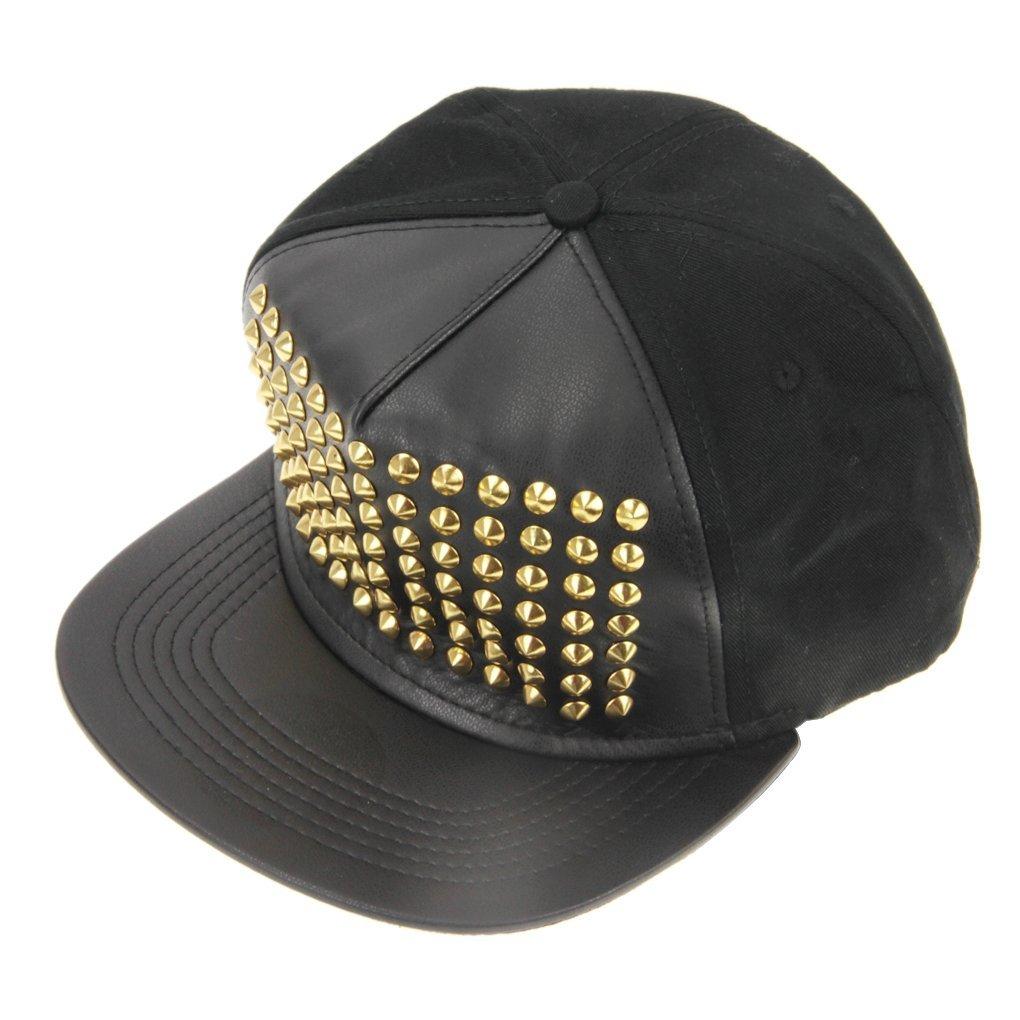 53fd12e0265 Fashion Rivet Baseball Cap Hip-hop Hat Trucket Hat Gold Stud Cap G-DRAGON