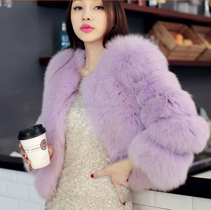 Hot-Selling Winter coat long Striped Faux Fur Coat Luxury Fox Fur Coats Women fashion fur Overcoat 2017