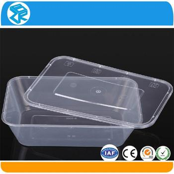 Walmart Rectangular Disposable Plastic Chinese Food Storage