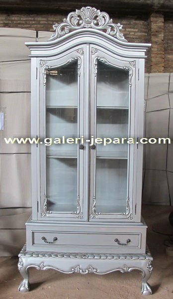 Mirror Furniture - Armoire 2 Doors - Antique Glass Cabinet