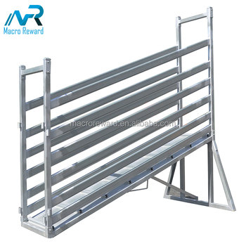 Hot sale adjustable Stainless steel animals Loading Ramps