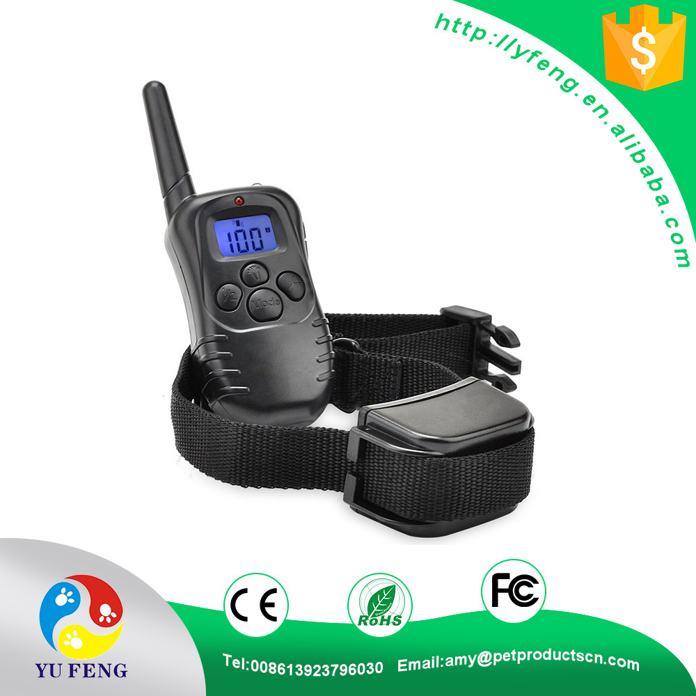 100% 998DB Waterproof Rechargeable LCD Electronic Shock Remote Dog Training Collar Electric Pet Training Collar Pet Trainer
