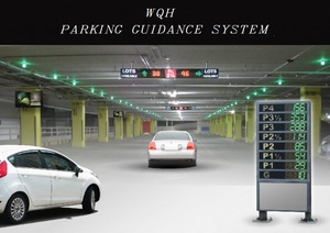 Under Parking Management System Vehicle Detection Ultrasonic Sensor System with LED Screen Display